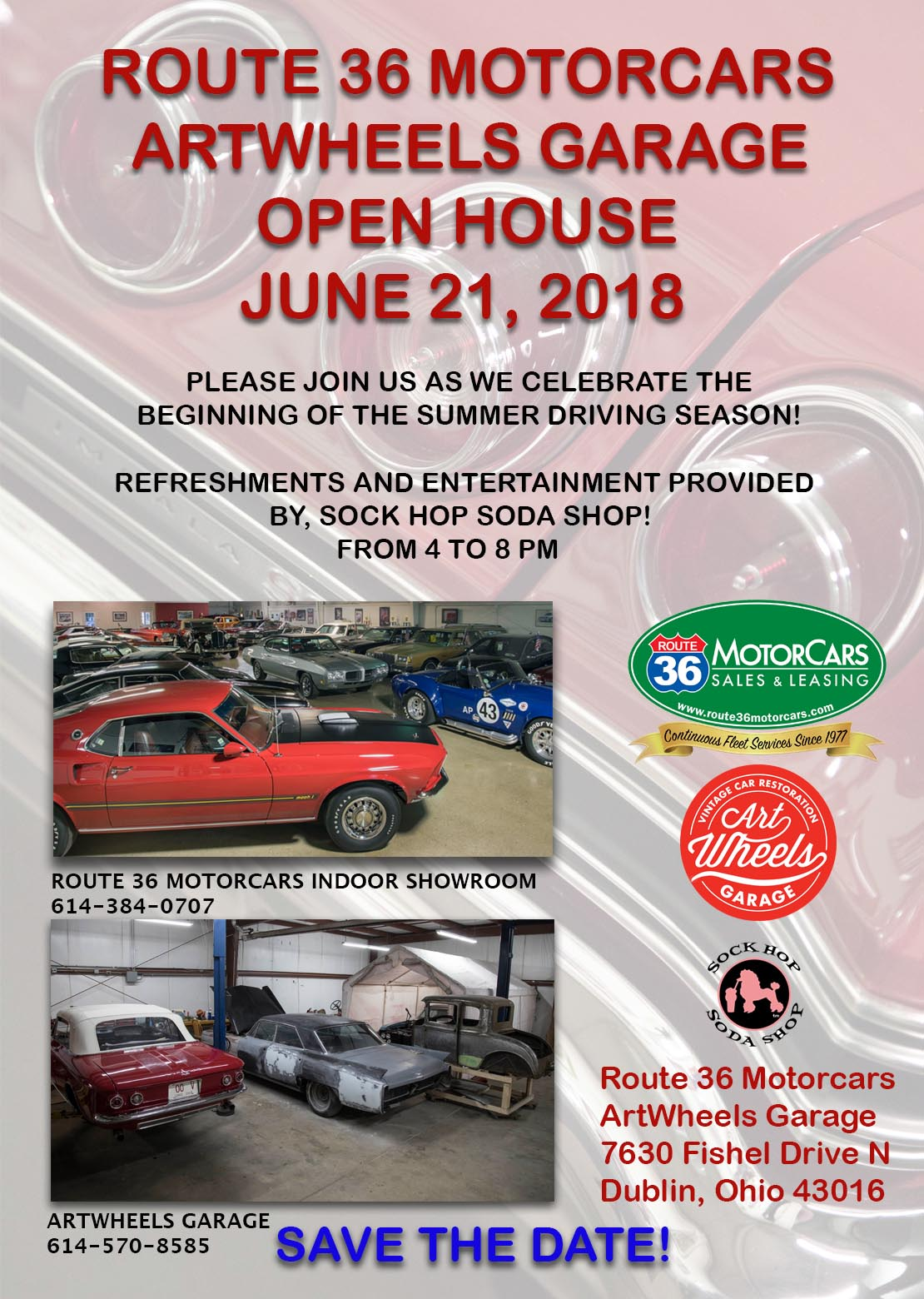 Art Wheels Open House June 21, 2018 ArtWheels Garage 7630 Fishel Drive N. Dublin OH
