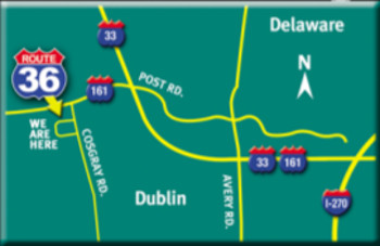 Map to Route 36 Motor Cars